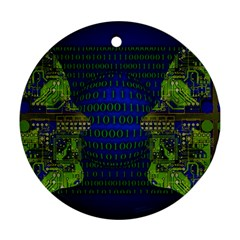 Binary Communication Round Ornament (two Sides)