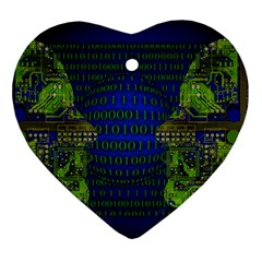 Binary Communication Heart Ornament (two Sides)