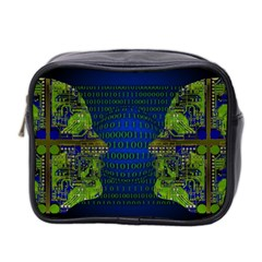 Binary Communication Mini Travel Toiletry Bag (two Sides)