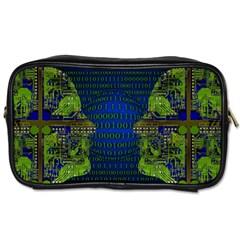 Binary Communication Travel Toiletry Bag (one Side)