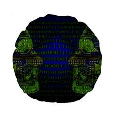 Binary Communication 15  Premium Round Cushion