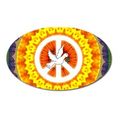 Psychedelic Peace Dove Mandala Magnet (oval)