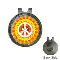 Psychedelic Peace Dove Mandala Hat Clip With Golf Ball Marker