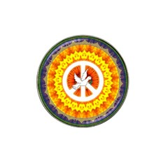 Psychedelic Peace Dove Mandala Golf Ball Marker 10 Pack (for Hat Clip)