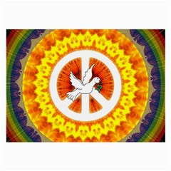 Psychedelic Peace Dove Mandala Glasses Cloth (Large, Two Sided)