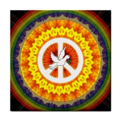 Psychedelic Peace Dove Mandala Face Towel