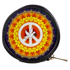 Psychedelic Peace Dove Mandala Mini Makeup Case