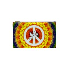 Psychedelic Peace Dove Mandala Cosmetic Bag (small)