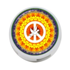 Psychedelic Peace Dove Mandala 4 Port Usb Hub (two Sides)