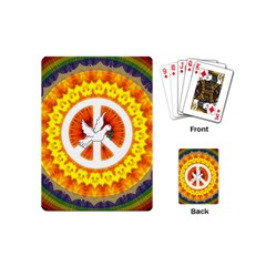 Psychedelic Peace Dove Mandala Playing Cards (mini)