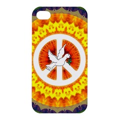 Psychedelic Peace Dove Mandala Apple Iphone 4/4s Premium Hardshell Case