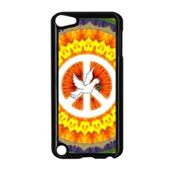 Psychedelic Peace Dove Mandala Apple iPod Touch 5 Case (Black)