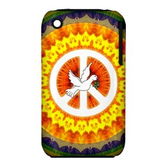 Psychedelic Peace Dove Mandala Apple iPhone 3G/3GS Hardshell Case (PC+Silicone)