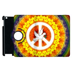 Psychedelic Peace Dove Mandala Apple iPad 3/4 Flip 360 Case