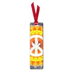 Psychedelic Peace Dove Mandala Small Bookmark