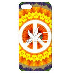 Psychedelic Peace Dove Mandala Apple Iphone 5 Hardshell Case With Stand