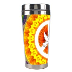 Psychedelic Peace Dove Mandala Stainless Steel Travel Tumbler