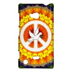 Psychedelic Peace Dove Mandala Nokia Lumia 720 Hardshell Case
