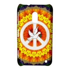 Psychedelic Peace Dove Mandala Nokia Lumia 620 Hardshell Case