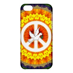 Psychedelic Peace Dove Mandala Apple Iphone 5c Hardshell Case