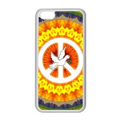 Psychedelic Peace Dove Mandala Apple iPhone 5C Seamless Case (White)