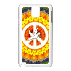 Psychedelic Peace Dove Mandala Samsung Galaxy Note 3 N9005 Case (White)