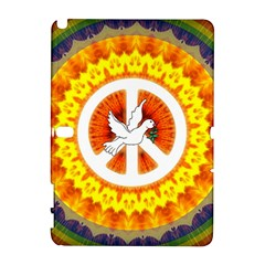 Psychedelic Peace Dove Mandala Samsung Galaxy Note 10.1 (P600) Hardshell Case