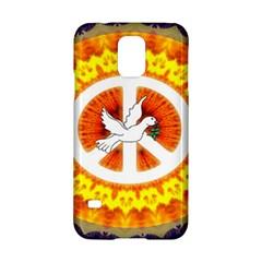 Psychedelic Peace Dove Mandala Samsung Galaxy S5 Hardshell Case
