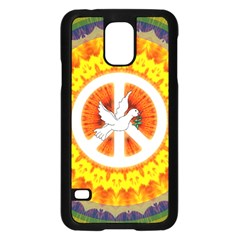 Psychedelic Peace Dove Mandala Samsung Galaxy S5 Case (Black)