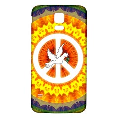 Psychedelic Peace Dove Mandala Samsung Galaxy S5 Back Case (white)