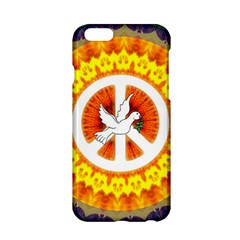 Psychedelic Peace Dove Mandala Apple Iphone 6 Hardshell Case