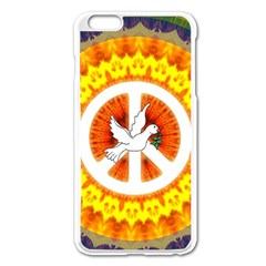 Psychedelic Peace Dove Mandala Apple iPhone 6 Plus Enamel White Case