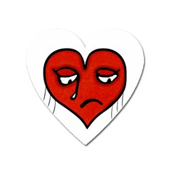 Sad Heart Magnet (heart)