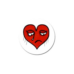 Sad Heart Golf Ball Marker