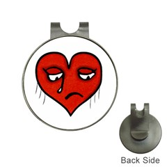 Sad Heart Hat Clip with Golf Ball Marker