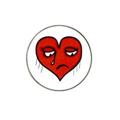 Sad Heart Golf Ball Marker (for Hat Clip)