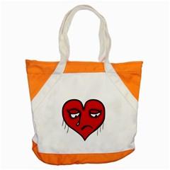 Sad Heart Accent Tote Bag
