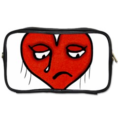 Sad Heart Travel Toiletry Bag (one Side)