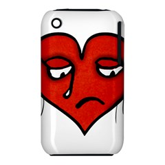 Sad Heart Apple iPhone 3G/3GS Hardshell Case (PC+Silicone)