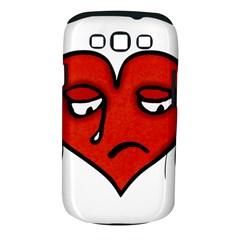 Sad Heart Samsung Galaxy S III Classic Hardshell Case (PC+Silicone)