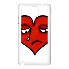 Sad Heart Samsung Galaxy Note 3 N9005 Case (white)
