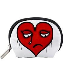 Sad Heart Accessory Pouch (small)