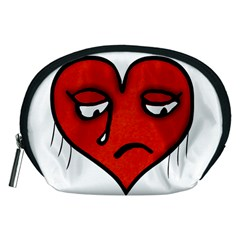 Sad Heart Accessory Pouch (medium)