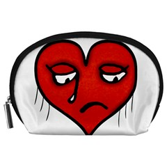 Sad Heart Accessory Pouch (large)