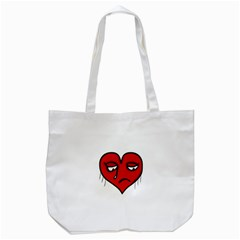 Sad Heart Tote Bag (white)