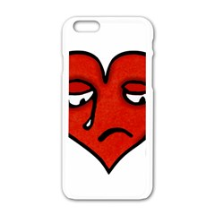 Sad Heart Apple Iphone 6 White Enamel Case