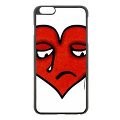 Sad Heart Apple iPhone 6 Plus Black Enamel Case