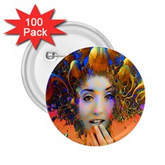 Organic Medusa 2 25  Button (100 Pack)