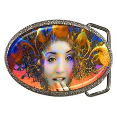 Organic Medusa Belt Buckle (Oval)