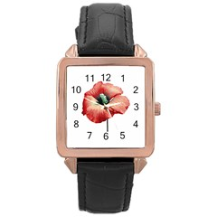 Your Flower Perfume Rose Gold Leather Watch